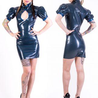 Kleid mit Puffärmelchen und Brustausschnitt